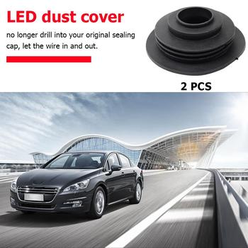 2pcs Car Headlight Rubber Dust Covers for HID LED Conversion Kit C6 Bulb Housing Seal Caps image