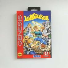 Landstalker (توفير البطارية) غطاء الولايات المتحدة الأمريكية مع صندوق البيع بالتجزئة 16 بت MD بطاقة الألعاب ل Sega megadve نشأة لعبة فيديو وحدة التحكم