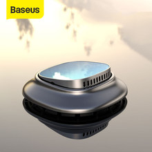 Baseus Mini Car Air Freshener น้ำหอม Aroma Diffuser น้ำมันหอมระเหย Solid Air Outlet Dashboard ผู้ถือน้ำหอม(China)