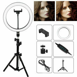 Universal Fill Light Tripod LED Ring Lamp Phone Holder Kit Selfie Stick Photography Beauty Lamp For iPhone Xiaomi SamSung