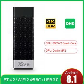 TV Box X96S HD con Android 9,0, decodificador de TV inteligente con Amlogic S905Y2, 2GB/4GB, DDR3, 16GB/32GB, eMMC, PC, wi-fi 2,4 GHz/5,8 GHz, reproductor multimedia en 4K