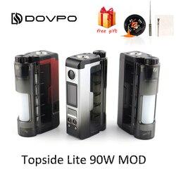 Originele DOVPO Bovenzijde Lite 90W Mod aangedreven door enkele 21700/20700 batterij Elektronische Sigaret 510 Thread Verstuiver vape Doos Mod
