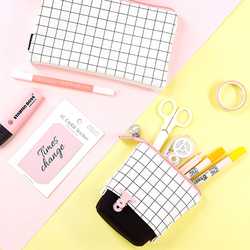 JIANWU 1PC Large Capacity Square Pencil Case Kawaii  Pencil case Pencil Bag School Box pencil case for school of girl