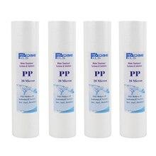 4 PACK VAN 20 Micron Smelt Geblazen Polypropyleen Filter Cartridge 2.5 Inch Dia. X 10 Inch Lange Universeel Type