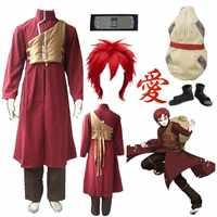Anime Naruto Shippuden Gaara Red Cosplay Rot kleidung Kostüm Halloween