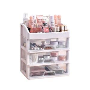 Makeup Organizer Drawers Plastic Cosmetic Storage Box Jewelry Container Make Up Case Makeup Brush Holder Organizers Box