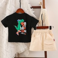 Baby Boys Casual Cartoon Tshirt Sets Summer O neck Short Sleeve Clothes Set Cotton Toddler Baby Boy Clothing Set 2PCS