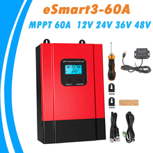 MPPT Solar Laderegler 60A 12V 24V 36V 48V Auto LCD Hohe Effizienz Solar Panel Regler für Max 150VDC Eingang eSmart3 60A