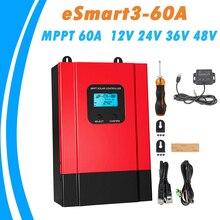 MPPT Solar şarj regülatörü 60A 12V 24V 36V 48V otomatik LCD yüksek verimli güneş paneli regülatörü Max 150VDC giriş eSmart3 60A