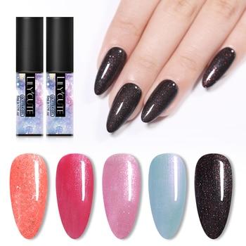 LILYCUTE 5ml Pink Black Sequins Gel Nail Polish  Semi Permanent Color Gel Varnish Soak Off Nail Art UV Gel Long Lasting  Nai