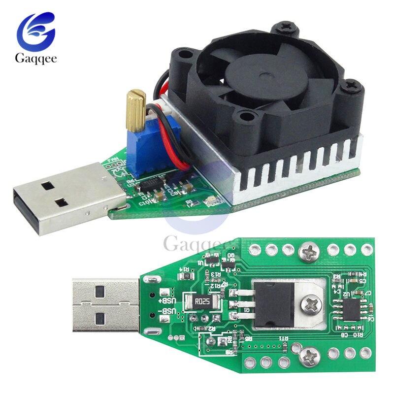 15 Вт DC 3,7-13 в промышленный электронный испытательный нагрузочный резистор USB разрядная емкость тест батареи er с вентилятором Регулируемый м...