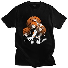 Cotton Tshirt Volleyball Hinata Bokuto Anime Short-Sleeve Casual No Tee Karasuno Haikyuu