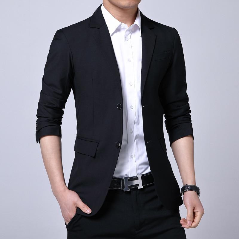 Spring And Autumn Suit MEN'S Suit Slim Fit Business Korean-style Casual Solid Color Men Suit Wear