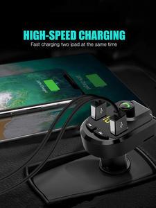 Mp3-Player Car-Charger Phone Fm Transmitter Handsfree Bluetooth Wireless Tf-U-Disk