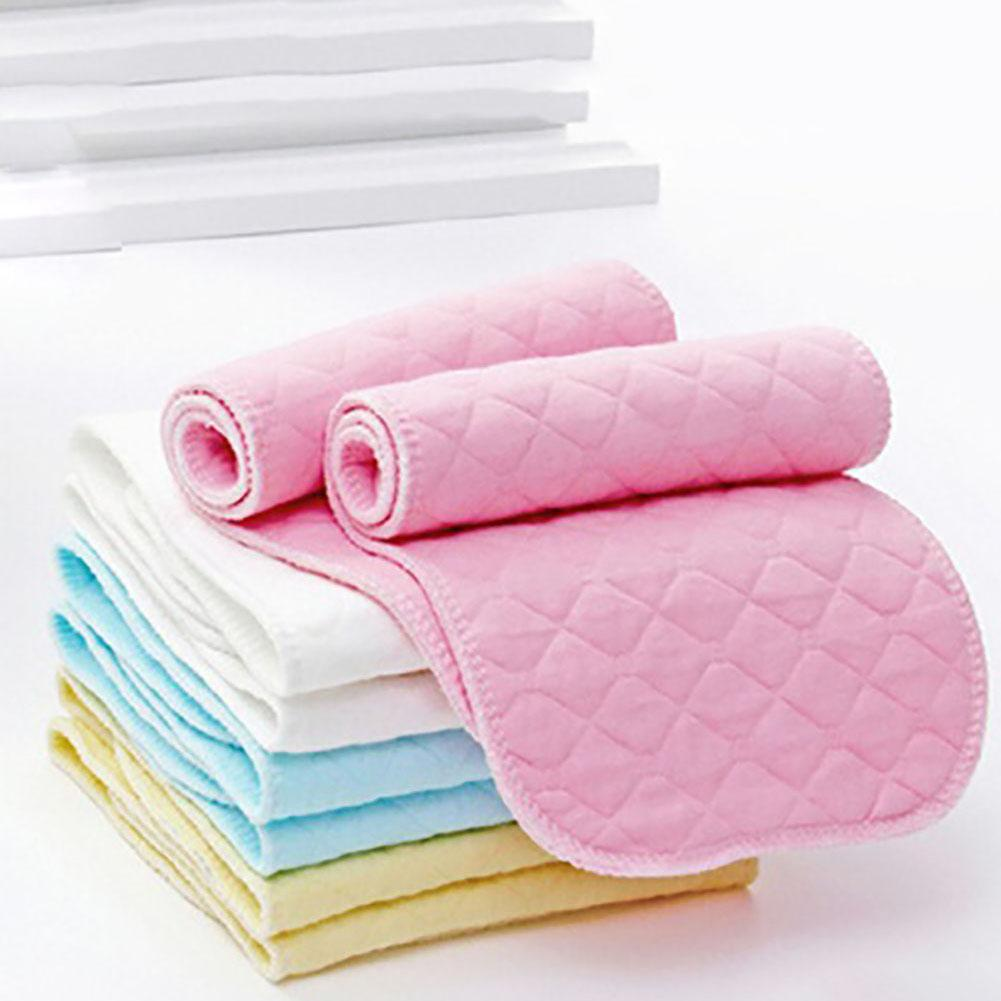 10 Pcs 3 Layers Microfiber Baby Nappies Reusable Baby Infant Newborn Cloth Diaper Nappy Liners Insert Fraldas For Baby Care