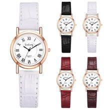 Fashion Simple Women Watch Roman Number Analog Round Dial Faux Leather Band Ladies Quartz Wrist Watches Gifts relogio feminino