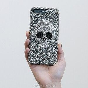 Image 4 - Kühle Metall 3D Schädel Skelett Punk Bling Fällen für Samsung galaxy S9 S10 S20 Plus S10e Hinweis 10 Lite 10 + 20 Ultra 9 Kristall Fundas