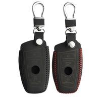 remote key Car key Cover for BMW 5 Series M1 GT F20 F10 F30 520 525 520I 530D E34 E46 E60 E90 Genuine leather Case Remote keybag keychain (2)