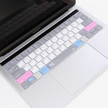 Ultra fino silicone mac os teclado de atalho capa para apple macbook pro16