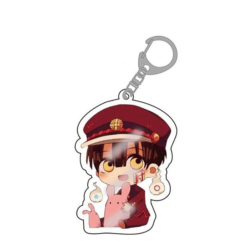 2020 Anime Toilet-bound Acrylic Keychain Toilet Bound Jibaku Shounen Hanako Kun Pendant Keyrings
