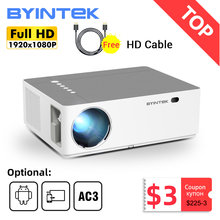 BYINTEK K20 Full HD 4k 3d 1920x1080p android wifi led vídeo 300 polegada projetor Home Theater Beamer para smartphone