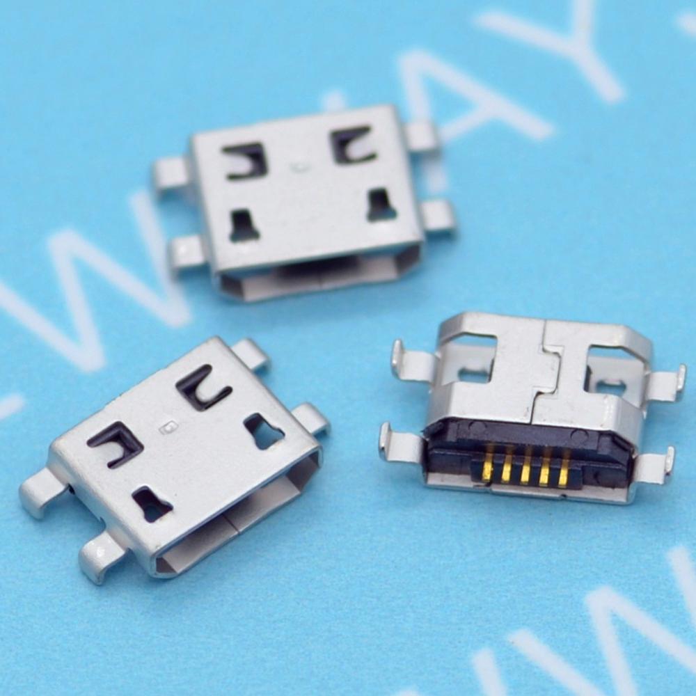 ,100pcs/Lot,Micro USB 5pin B Type Female Connector For Mobile Phone Micro USB Jack Connector 5 Pin Charging Socket