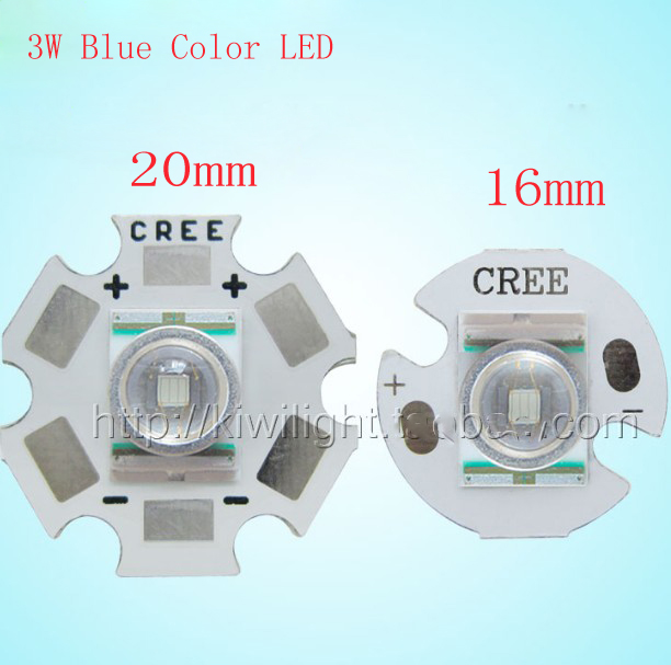 SMD <font><b>LED</b></font> 3W Blue Color with Aluminum plate 465-<font><b>480NM</b></font> High power For Flash-light image