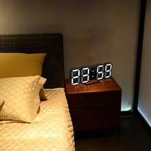 3D LED Wall Clock Digital Table Desktop Alarm With Temperature Sound Control Night Light Saat For Home Decor