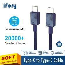 Зарядный кабель ifory 3 фута usb type c qc30 для samsung galaxy