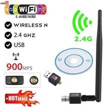 2.4GHz sıcak satış yeni USB kablosuz Wifi adaptörü 900Mbps 802.11b/n/g USB Ethernet adaptörü Wi-fi alıcı kablosuz ağ kartı