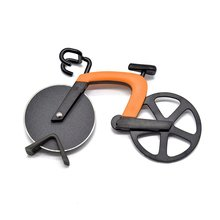 Bicycle Pizza Cutter Bike Wheel Pizza Chopper Bike Roller Pizza Slicer Pizza Cutting Knifes Kitchen Gadget цена и фото