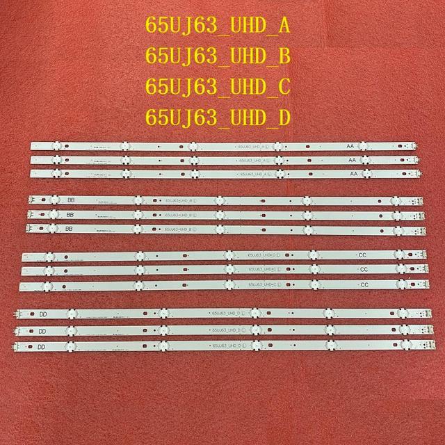 12pcs retroiluminação LED para LG 65UJ6300 65UJ630V 65UJ6309 65UJ634V 65UJ5500 65UK6100 Innotek 17Y 65inch_A SSC 65UJ63_UHD_A B C D