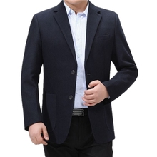 Male Blazer Costume Suit-Jackets Business Casual Fashion Masculino Brand Two-Buttons