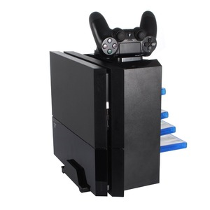 Image 3 - For PS4 Game Storage Tower Console Holder Stand with Dual Charger Dock for Dualshock 4 Controller Charging Dock Stores 12 Games