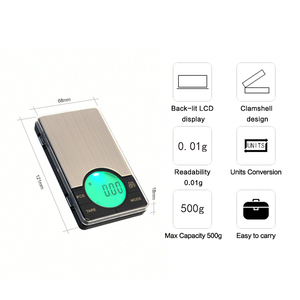 Image 3 - Precision Digital Pocket Weight Jewelry Scale with Large LCD Backlight,500G by 0.01G,Gram Scale