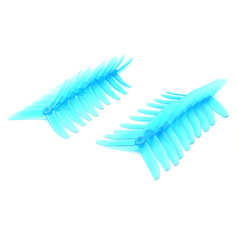 10 Pair GEP-<font><b>Prop</b></font> <font><b>5040</b></font> Propeller 3 Paddle <font><b>Props</b></font> Transparent PC for RC Model Toys Quadcopter image