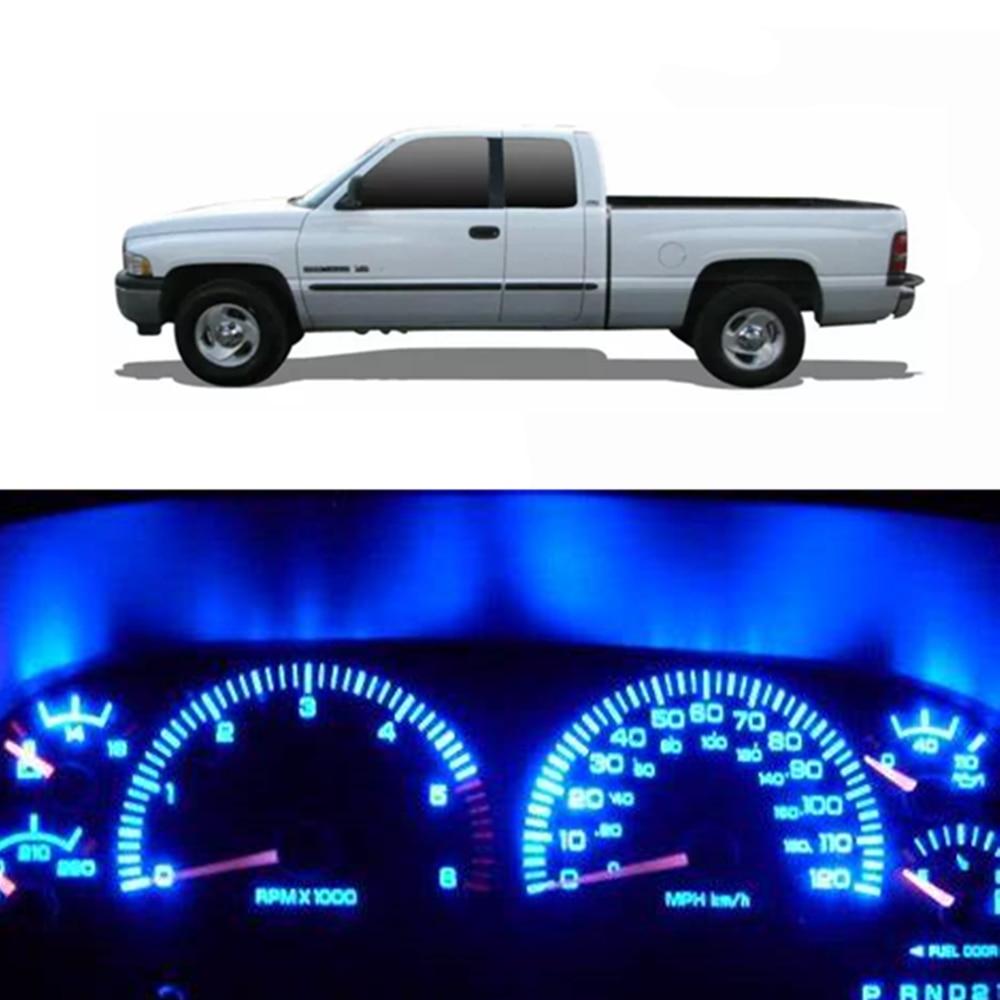 WLJH White Instrument Cluster Led Lights Panel Gauge Dash Bulb Full Light Kit with Socket for Dodge Ram 1500 2500 3500 1994-2001 Pack of 20