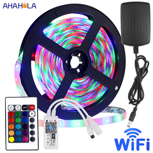 5m Waterproof Rgb Led Strips with Remote Control 60 Leds/m SMD 2835 Rgb Led Tape 12v DC Waterproof Led Ribbon Light