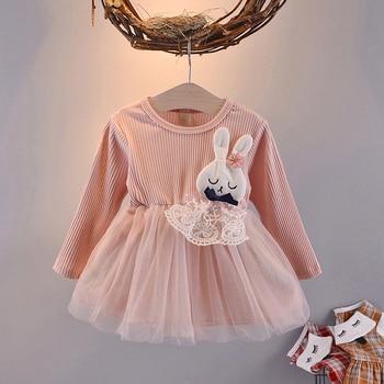 Baby Girl's Cartoon Rabbit Dress 1
