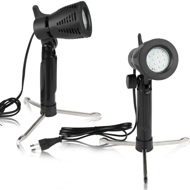 2 pces mini fotografia de mesa conduziu a iluminação quente fria portátil da lâmpada de luz contínua 3800-5500 k para o estúdio de vídeo fotográfico da foto