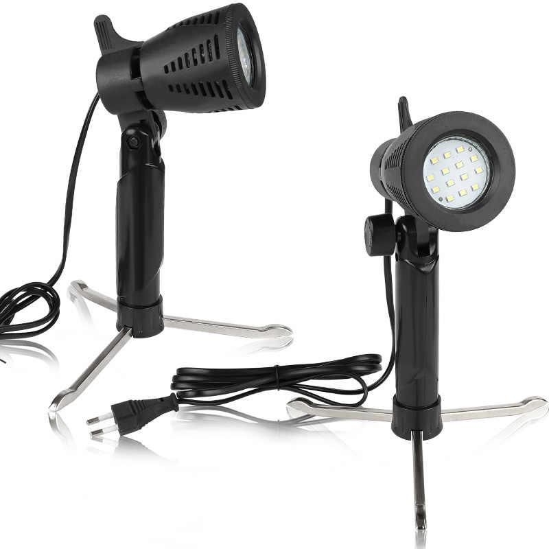 2pcs מיני שולחן צילום LED רציף אור מנורת נייד קר חם תאורה 3800-5500K עבור צילום תמונה וידאו סטודיו