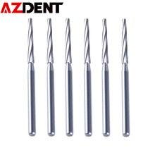 FG Zekrya – fraises dentaires chirurgicales en carbure de 28mm, 6 pièces/paquet, fraises de finition, outils dentaires à grande vitesse