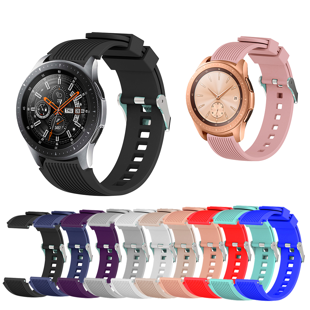 22mm 20mm Silicone Sports Strap For Samsung Galaxy Watch 46mm SM-R800 Amazfit BIP Strap For Galaxy Watch 42mm Adjustable Strap