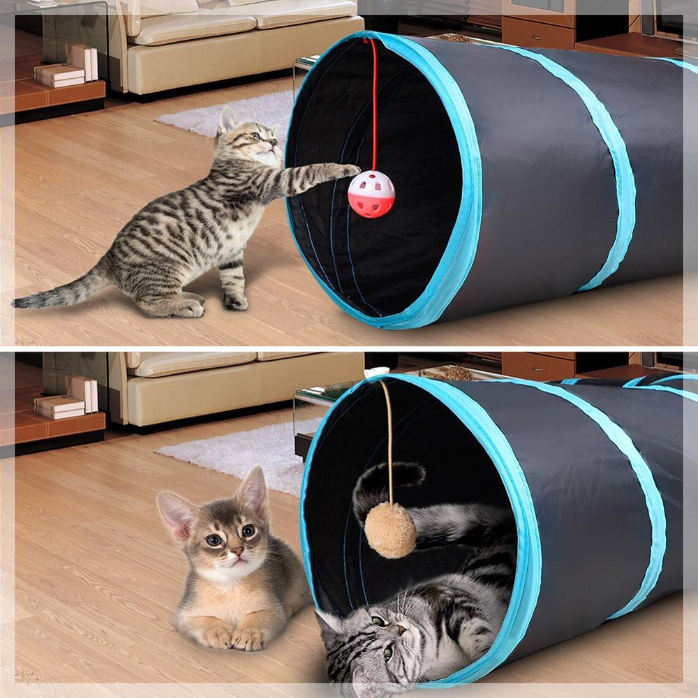 2020 NEW 2/3/4/5 Holes Foldable Pet Cat Tunnel Indoor Outdoor Pet Cat Training Toy for Cat Rabbit Animal Play Tunnel Tube image
