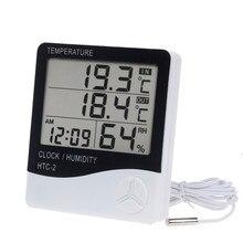 Thermomètre et hygromètre électronique numérique LCD, affichage de la température et de l'humidité, pour l'intérieur et l'extérieur, Station météo, horloge, thermomètres