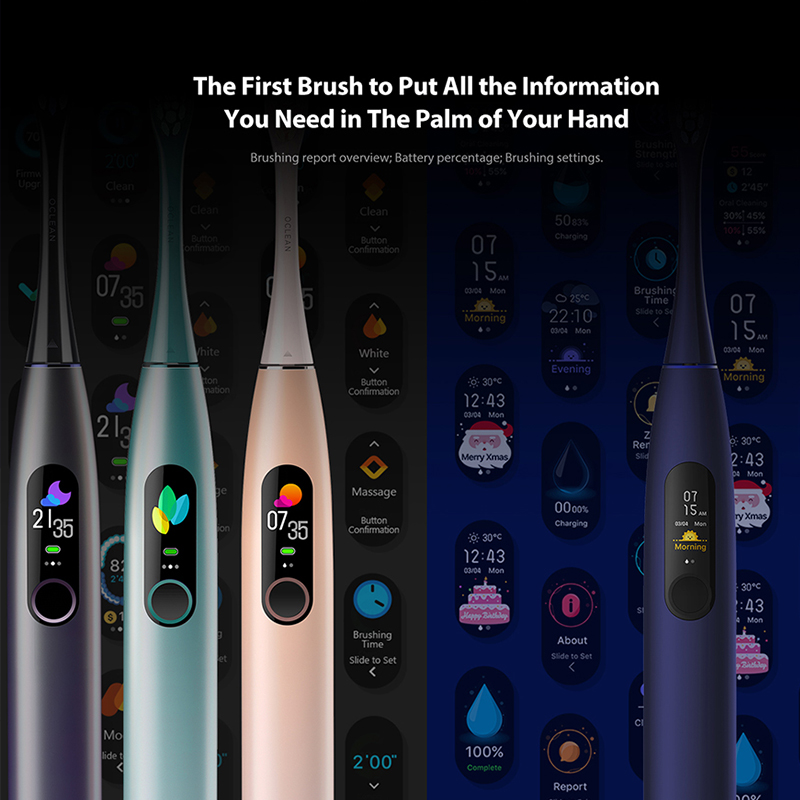 Global Version Oclean X Pro Sonic Electric Toothbrush Adult IPX7 Ultrasonic Tooth Brush Touch Screen Automatic Fast Charge App