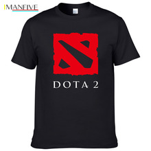 Fashion Tops Keep Calm And Play Dota 2 T-shirts The Walking Dead Movie Tshirts men Summer T Shirts Cotton Tees #023