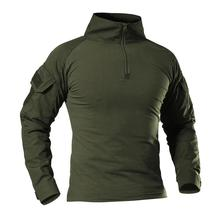 2020 armée américaine tactique militaire uniforme Airsoft Camouflage Combat prouvé chemises assaut rapide à manches longues chemise bataille grève