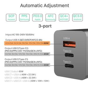 Image 4 - BaySerry 65 واط غان USB C تهمة سريعة 4.0 3.0 الاتحاد الأوروبي التوصيل نوع C PD شاحن نوع C آيفون 12 برو ماكس سامسونج محمول شحن سريع
