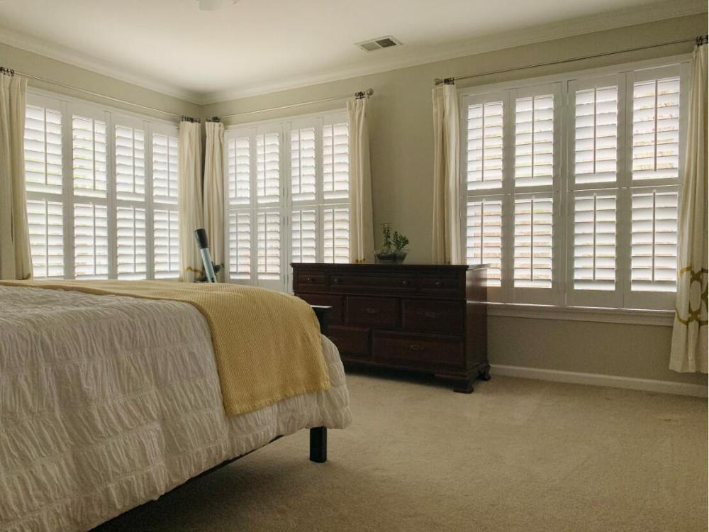 Custom Basswood Plantation Shutters Wooden Blinds Solid Wood Shutter Louvers PS242